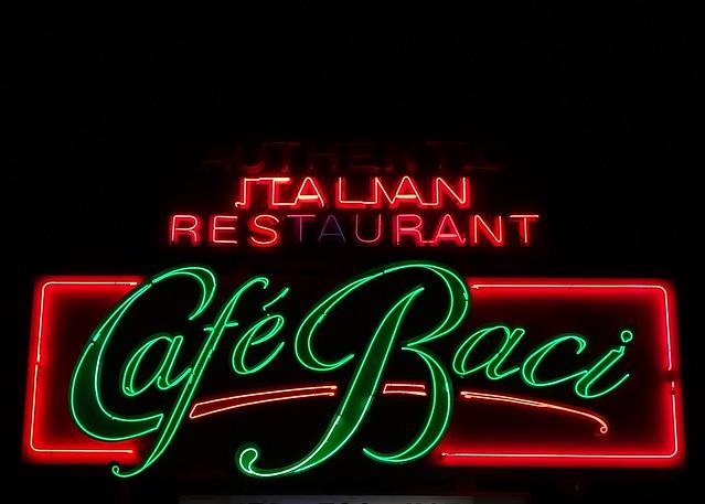 FL, Sarasota-U.S. 41 Cafe Baci Neon Sign
