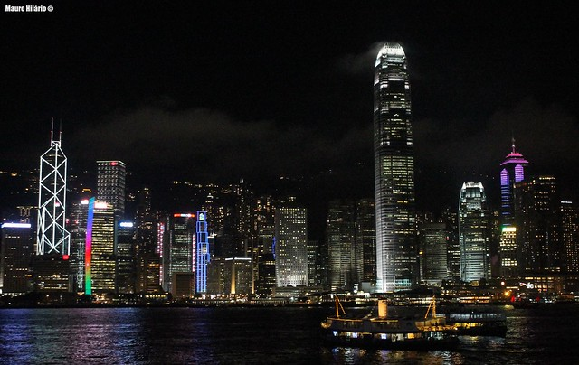 Glowing metropolis