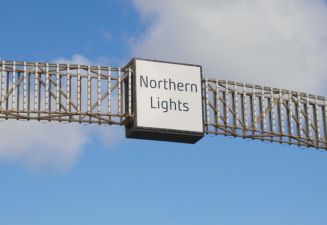 Northern Lights sign at Blackpool