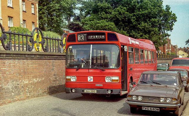 Eastern Counties LN591 (WAH591S) Woodbridge 1986