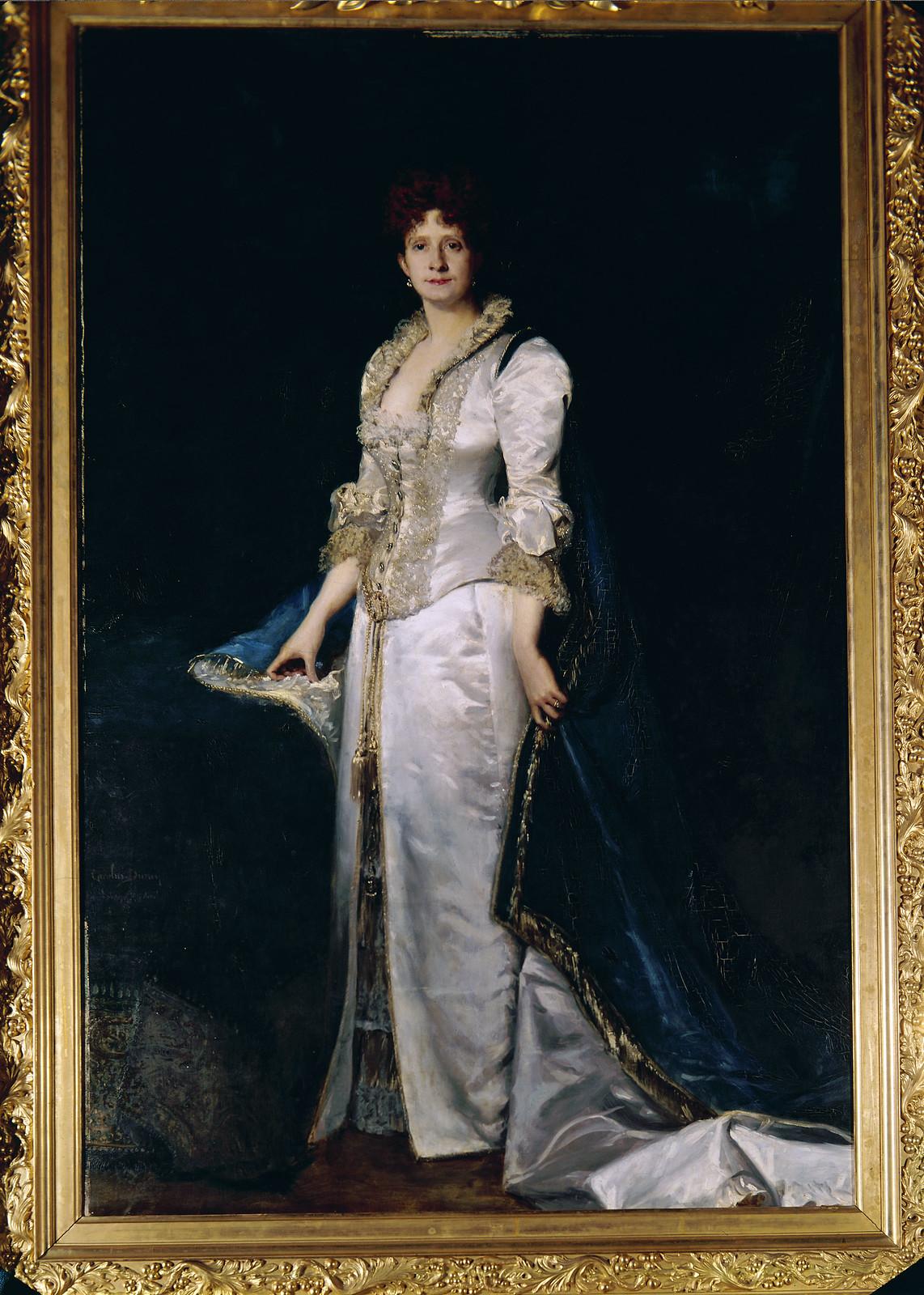 D. Maria Pia, por Carlos Duran, 1880 (Fotografia de M. Novais, 1933-83)