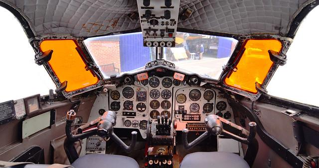 Cockpit of de Havilland DH-114 Heron, G-AOTI