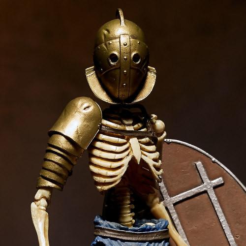 海洋堂 TAKEYA 式自在置物「古羅馬骸骨劍士」系列【追擊闘士】全彩版/蓄光版 可動人偶