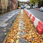 Autumn Covid cycle track in Preston