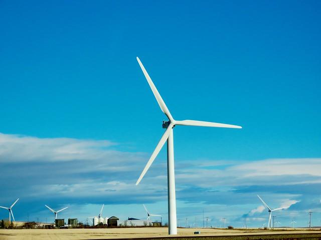 Windkraftanlage bei Pincher Creek, Alberta