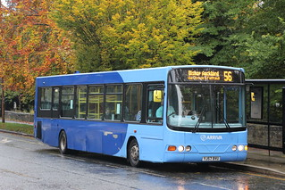 On loan to Arriva North East, Yorkshire Tiger 1410 YJ57BVU is seen at Whinney Hill, Durham on 21 October 2020.