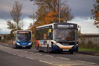 Two Stagecoach Single Deck Buses in Middlesbrough, North East, UK