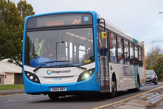 Stagecoach Single Deck Bus in Middlesbrough, Noth East, UK