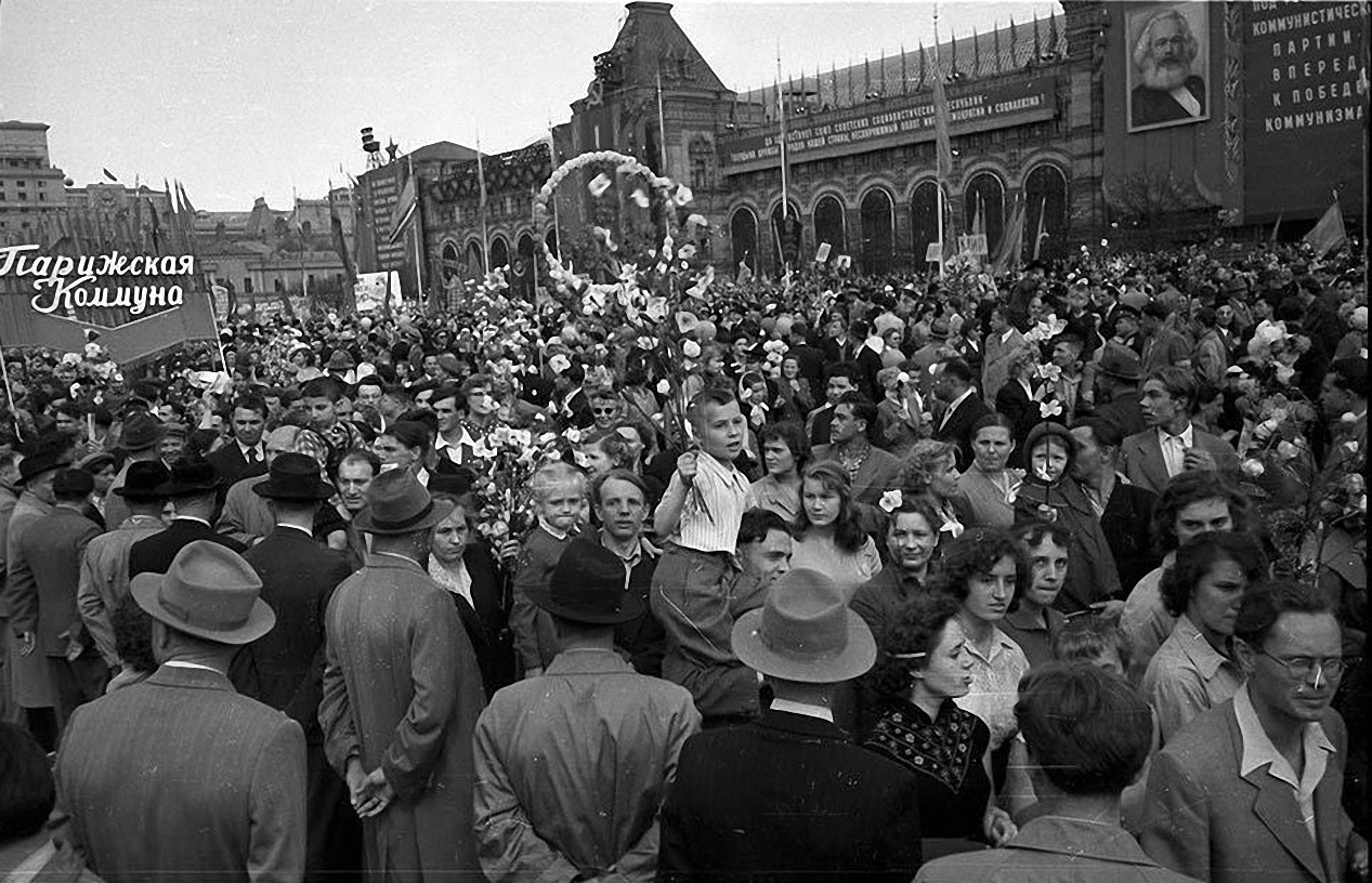 1959. Демонстрация 1 мая. Красная площадь (3)