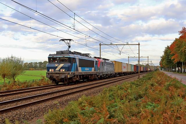 TCS 101001 + PKP Cargo EU46-513 Udenhout 22 oktober 2020