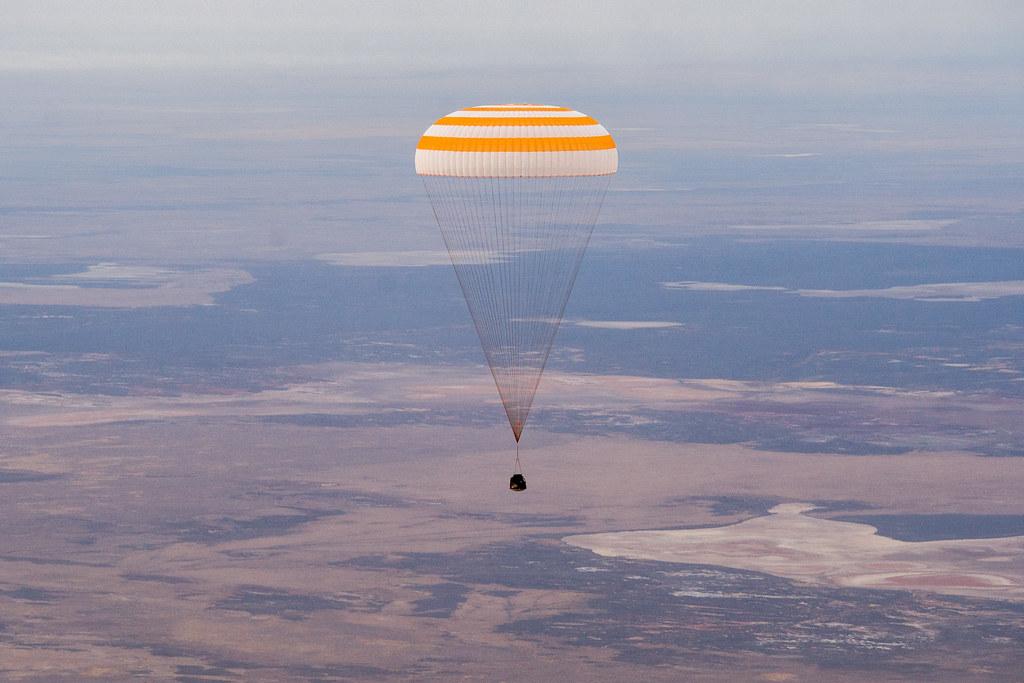 Expedition 63 Soyuz Landing (NHQ202010220002)  Photo Credit: (NASA/GCTC/Denis Derevtsov)
