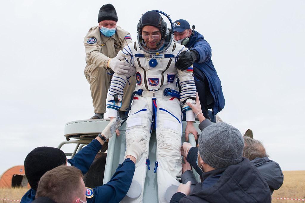 Expedition 63 Soyuz Landing (NHQ202010220015) Photo Credit: (NASA/GCTC/Denis Derevtsov)