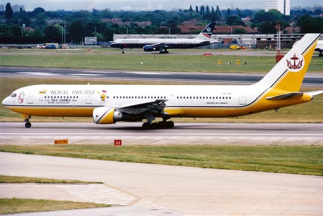 Royal Brunei | Boeing 767-300ER | V8-RBG | SEA Games logos | London Heathrow