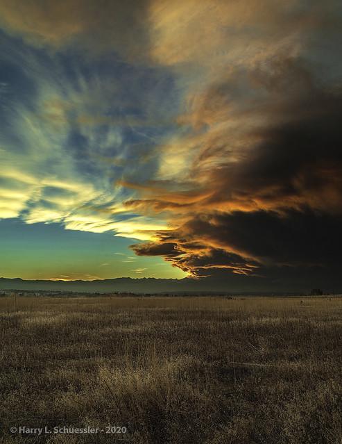 Wild Fire Smoke Sunset