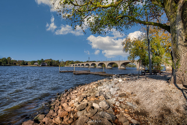 Vachel Lindsay Bridge Over Lake Springfield, Springfield, Illinois