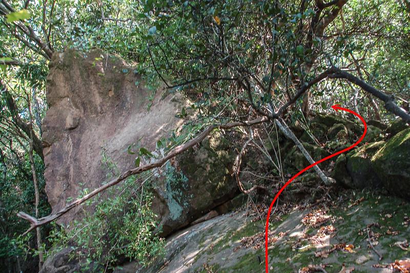 巨石右繞段