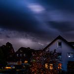 22. Oktoober 2020 - 18:53 - seit langer Zeit mal wieder Blitze über dem Ardey: Gewitter über Herdecke