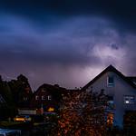 22. Oktoober 2020 - 18:50 - seit langer Zeit mal wieder Blitze über dem Ardey: Gewitter über Herdecke