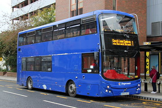 Stagecoach 80046 BV13ZCZ is seen in Newcastle on 21 October 2020. This vehicle is still owned by Golden Tours.