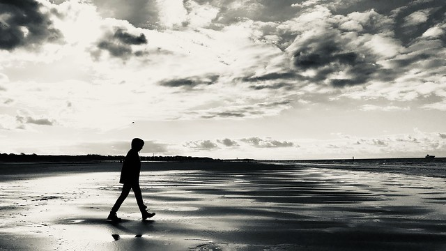 Walk at a beach in Zeeland