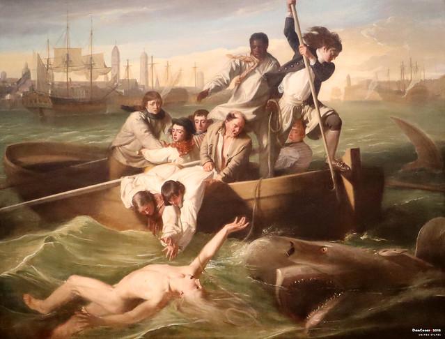 Watson and the Shark, 1778, John Singleton Copley, 1738-1815