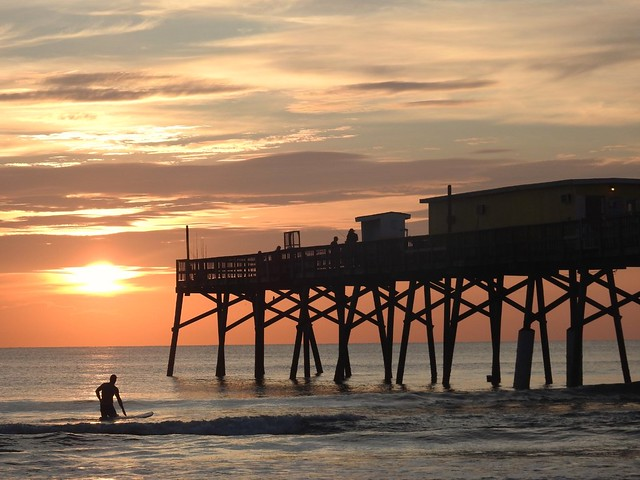 Surfer at Sunrise,  Sunglow Pier