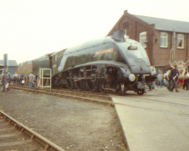 19840728 013 Doncaster Works. LNER A4 60009 UNION OF SOUTH AFRICA