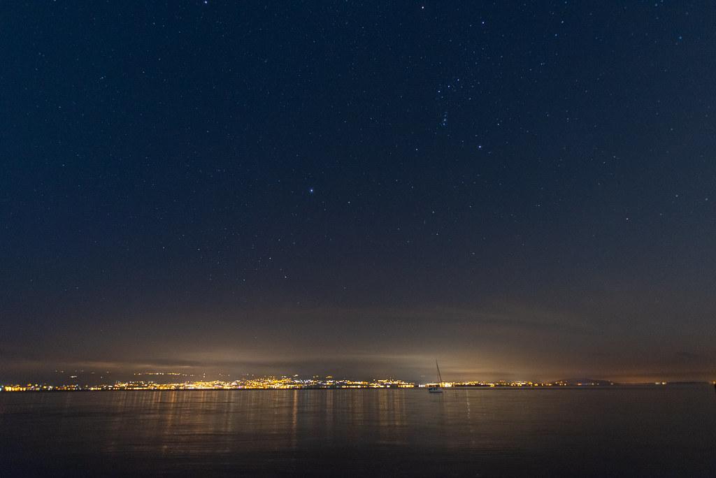 Orion over Lake Leman