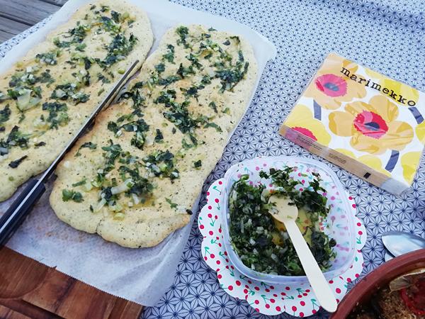 pain plat et pesto