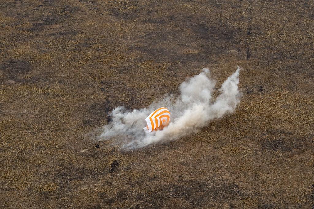 Expedition 63 Soyuz Landing (NHQ202010220007) Photo Credit: (NASA/GCTC/Denis Derevtsov)