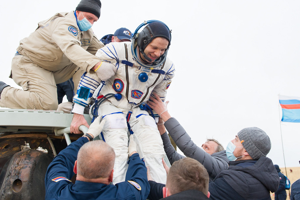 Expedition 63 Soyuz Landing (NHQ202010220019) Photo Credit: (NASA/GCTC/Denis Derevtsov)