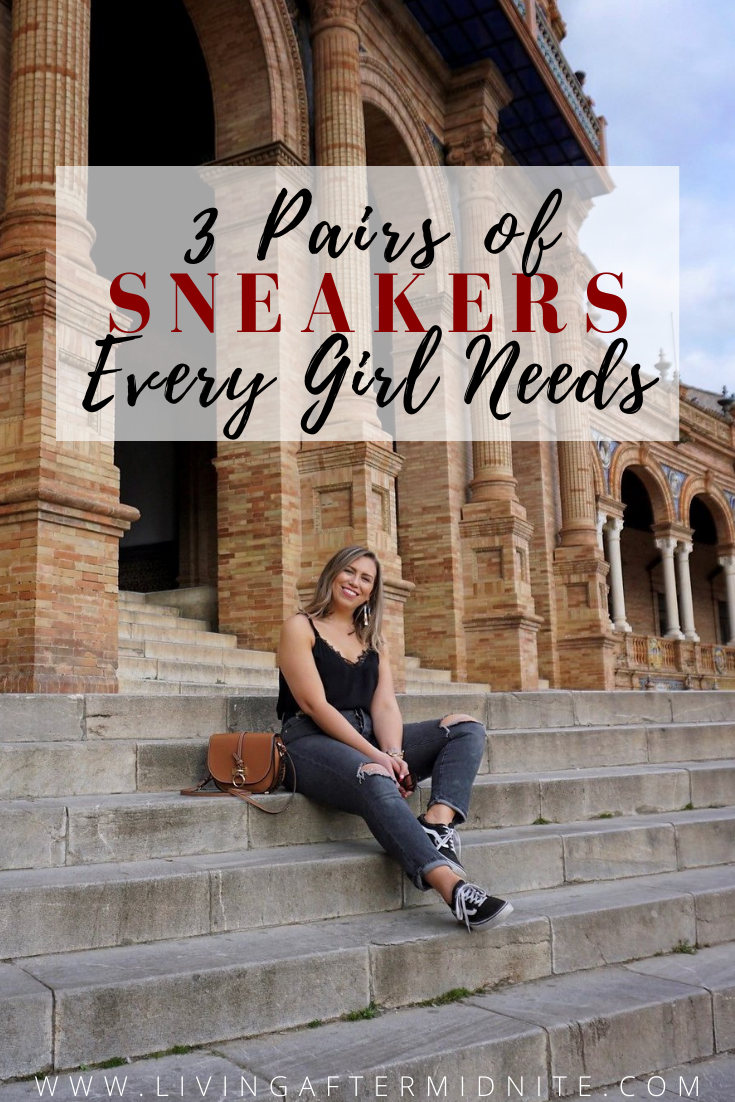 Sneakers Every Girl Needs | Black Vans Old Skool Sneakers | How to Wear Vans Sneakers | Best Sneakers That Go With Everything | Best Sneakers to Travel With | What to Wear in Spain | Spain Sightseeing Outfit Inspiration