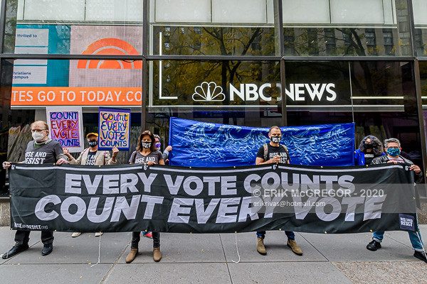 "New Yorkers Declare ""Count Every Vote/Every Vote Counts"""