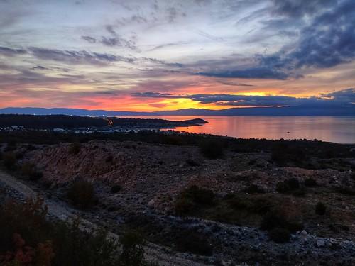 dusk sunset sea xiaomi smartphone phone
