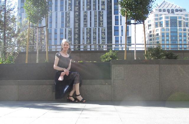 Sitting around downtown ...