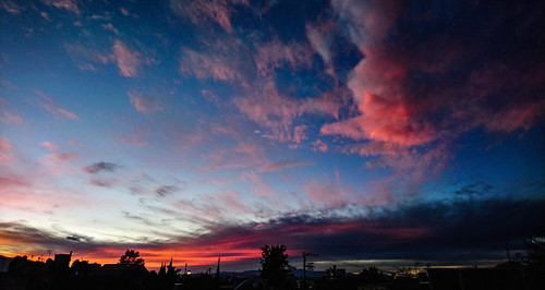 coyoacán cdmx méxico atardecer dusk horizon paisaje landscape panoramic view clouds pink rosa panoramica ciudad urban azotea vista rooftop sunset darkness horizonte earth places