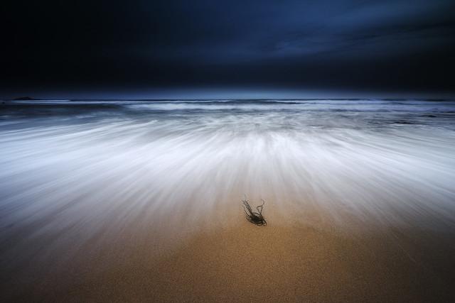 Seul face à l'océan...