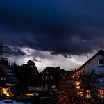 22. Oktoober 2020 - 18:55 - seit langer Zeit mal wieder Blitze über dem Ardey: Gewitter über Herdecke