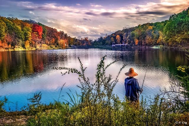 The Fishing Man @ Washington Valley Reservoir, New Jersey, USA
