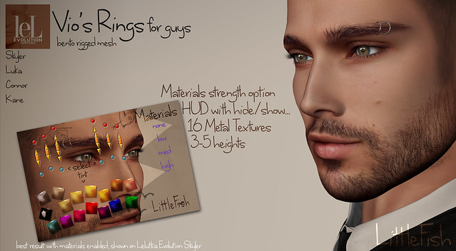 ~LF~ Vio's Rings for GUYS out now!