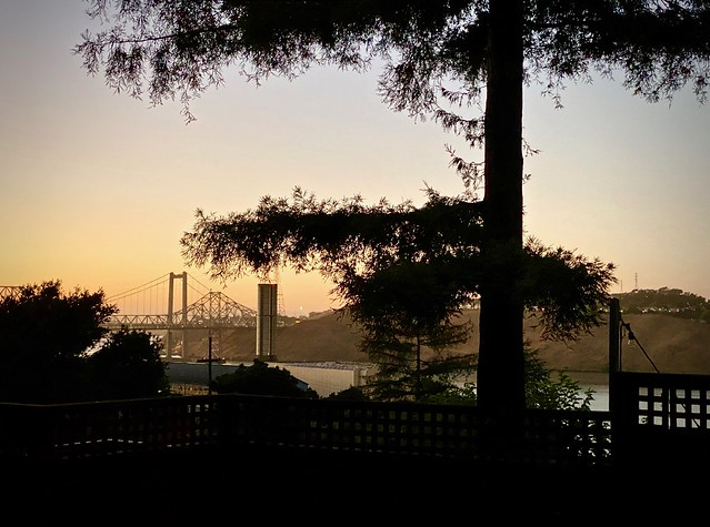 The Carquinez bridge from Crockett