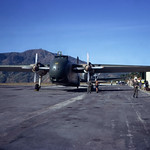 1975 RNZAF Bristol Freighter NZ5907 at Loakan Airport, Bagiou, Philippines, 13 Jan 1975.