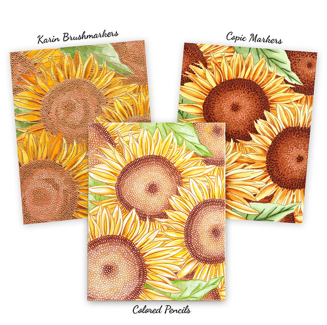 sunflower backgrounds x 3