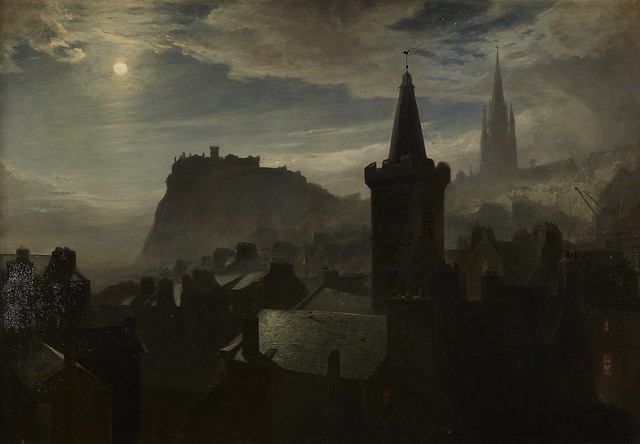Edinburgh by Moonlight John MacWhirter  1839-1911