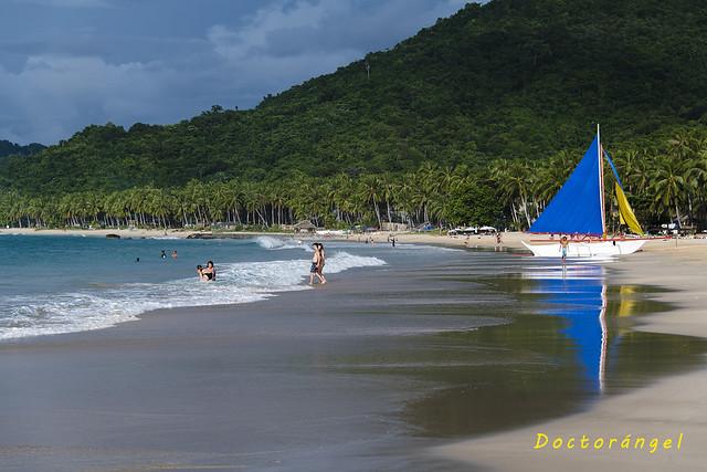 Playa de Nacpan. Isla de Palawan. Filipinas