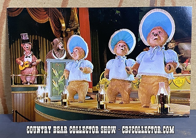 Vintage Disneyland Country Bear Jamboree Postcard - CBCS #278