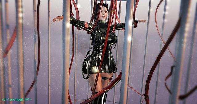 [FLS] Latex Chained Dress