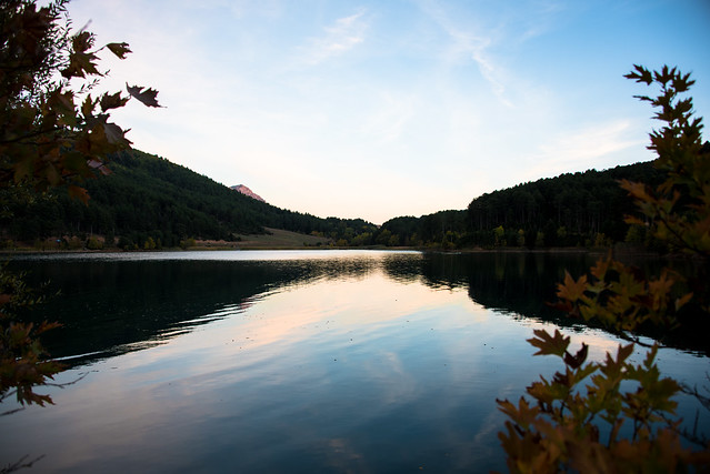 autumn dusk at the lake