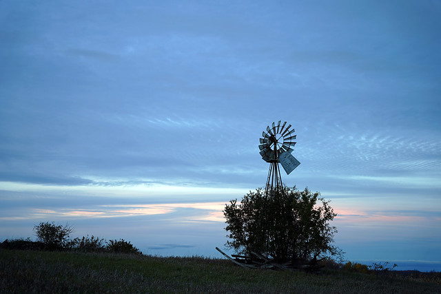 Windmill at the bluehour