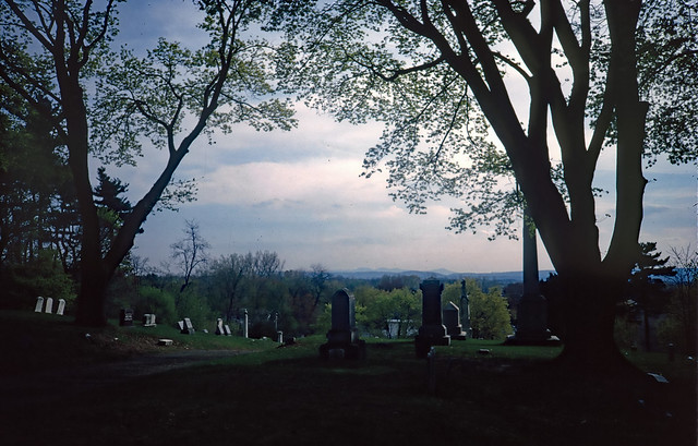 Cemetery with a view